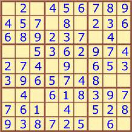 sudoku lehké